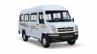 tempo traveller 9+1 fleet of best car rental company