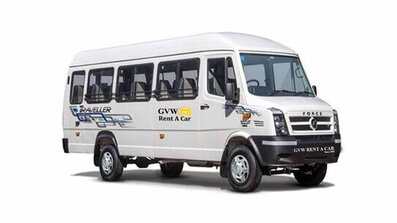 tempo traveller 12+1 fleet of best car rental company